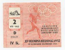 Orig.ticket    Olympic Games HELSINKI 1952 - SWIMMING // 5 FINAL`s  !!   RARITY