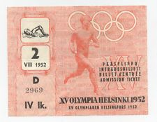 Orig.ticket    Olympic Games HELSINKI 1952 - SWIMMING // 5 FINAL`s  !!   RARITY