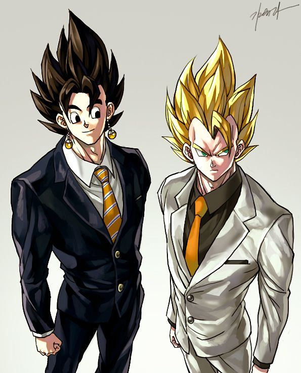 Vegetto and Gogeta by GoddessMechanic2.deviantart.com on @deviantART