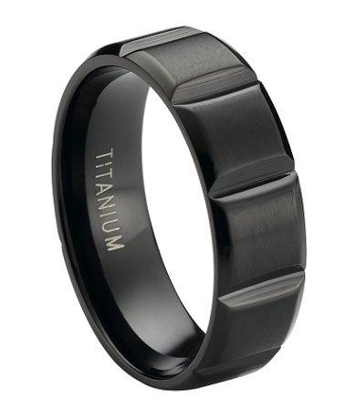 Black Titanium Rings | Matte Finish Fashion Ring ...