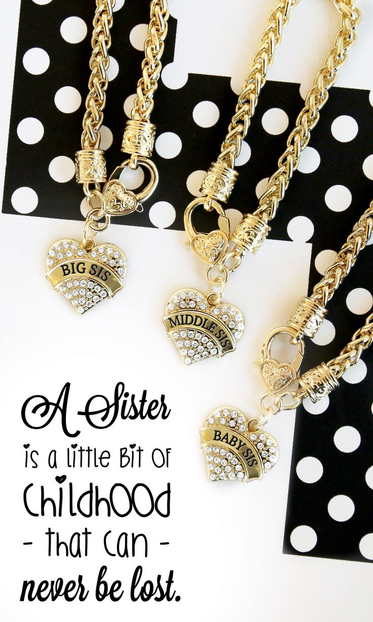 Big, Little, Middle sister bracelets are here in gold now! Prices start at only $10 each for these stylish bracelets.