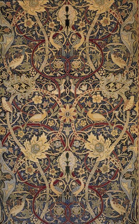 """andenglishmen: """" William Morris, Bullerswood carpet (detail), 1889. """""""