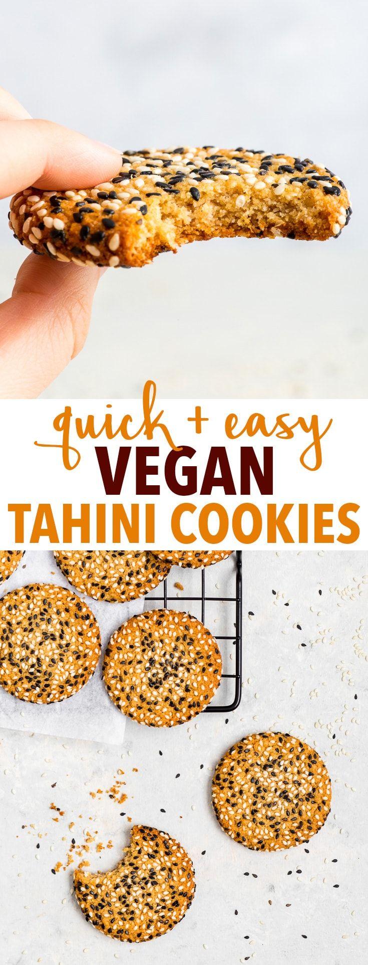 Quick + Easy Vegan Tahini Cookies (Gluten Free, Dairy Free, Vegan, Paleo) - Si y ...