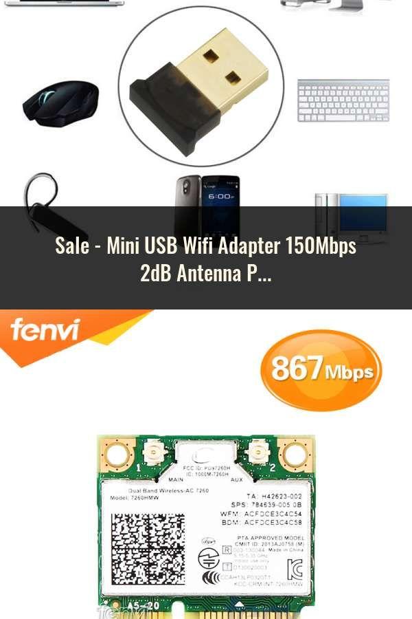 Mini USB Wifi Adapter 150Mbps 2dB Antenna PC USB Wi-fi Receiver