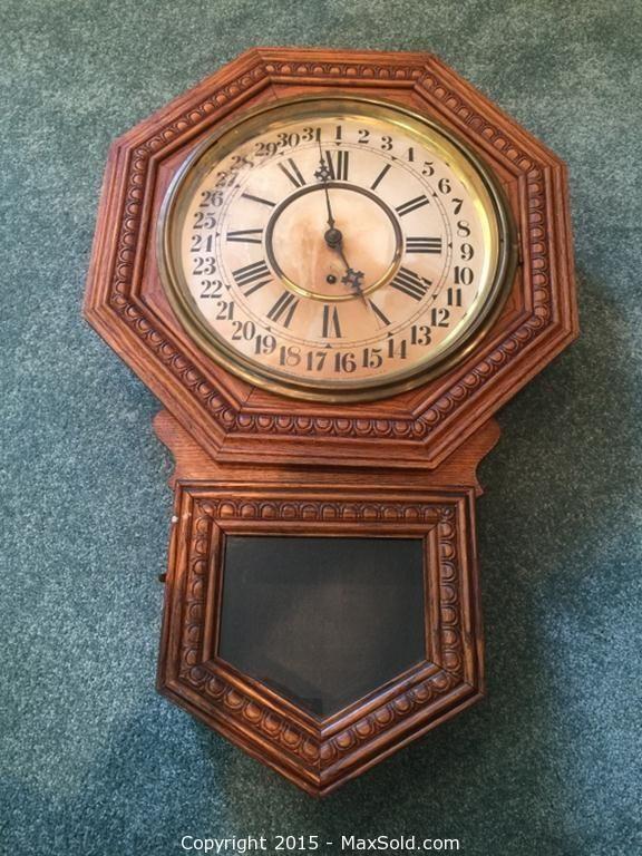 Antique Admiral Wall Clock