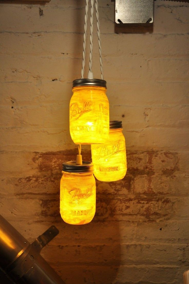 28 best mason jar chandelier images on pinterest hanging lamps 3 mason jar chandelier pendant light fixture by wiresnjars on etsy arubaitofo Choice Image