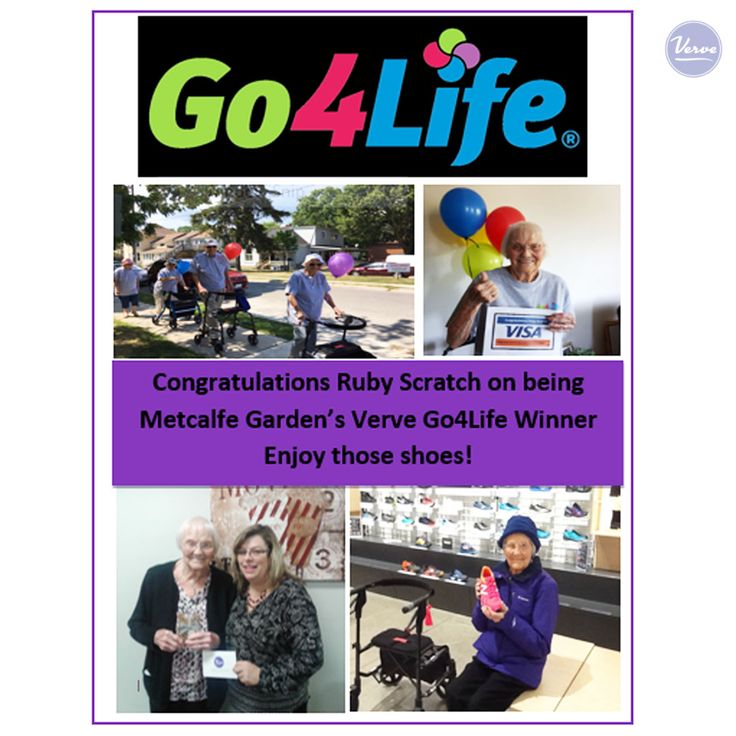 Congratulations to Ruby from Metcalfe Gardens, our Go 4 Life Walking Program Winner. Ruby used her winnings to purchase new running shoes to help keep her walking!