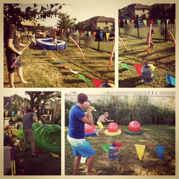 Wipeout Birthday Party:  Obstacle Course