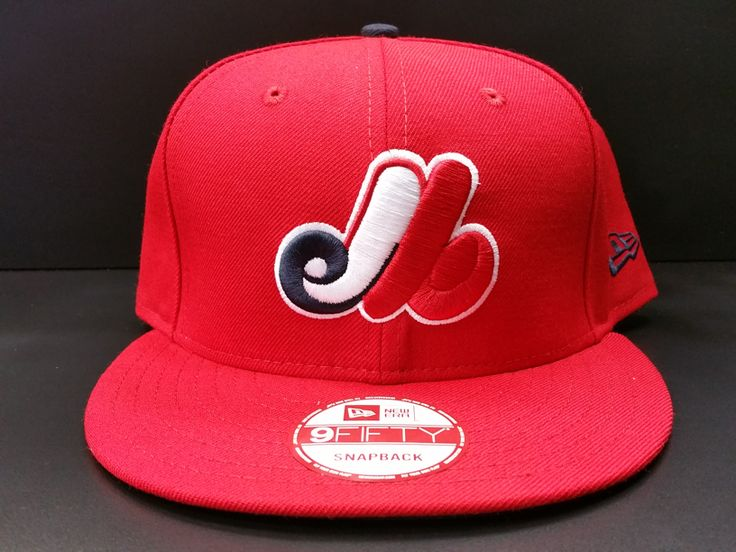 Montreal Expos Snapback Exclusive Custom Red White and Navy
