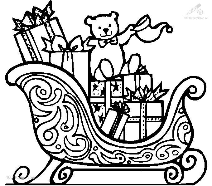 christmas children sledding coloring pages - photo#23