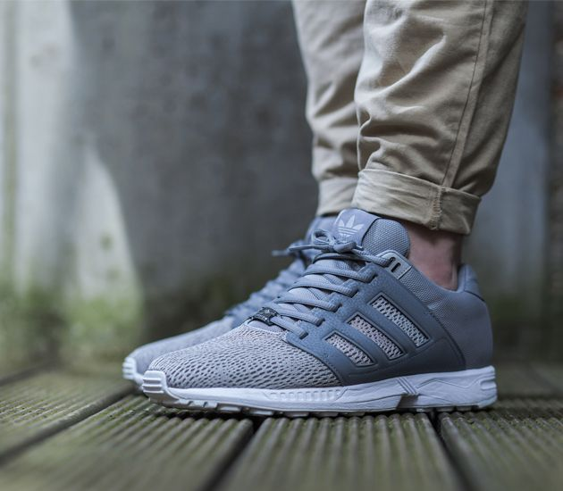 Cheap Mens Grey Adidas Zx Flux Slip On Trainers at Soletrader Outlet