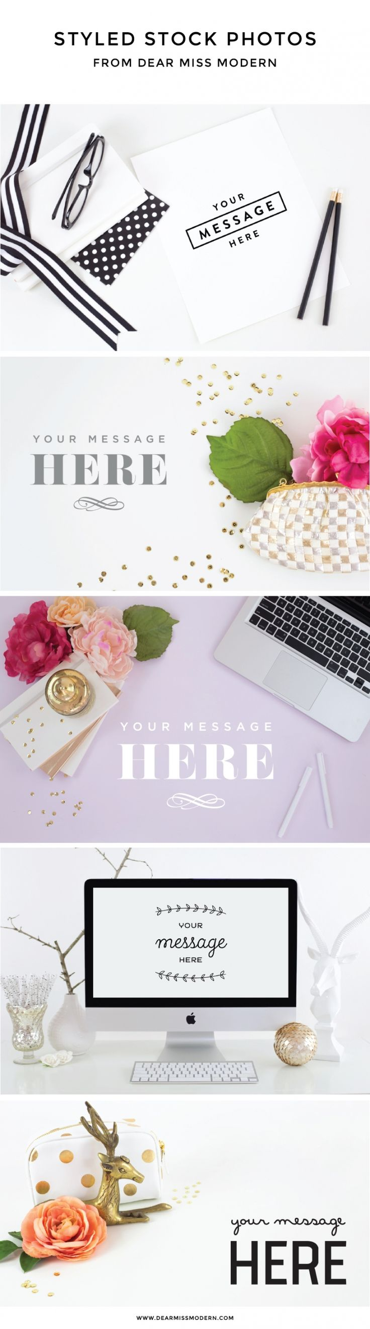Introducing our brand new, and if-we-do-say-so-ourselves BEAUTIFUL styled photography, now available in the Dear Miss Modern Shop! Build your new photo library with our styled stock at www.dearmissmodern.com