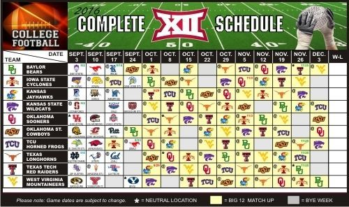 2016 Texas Longhorns, Texas Tech Red Raiders +ALL Large Football Schedule Magnet…