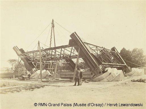 1884 Chantier de construction du Viaduc de Garabit, la plus belle