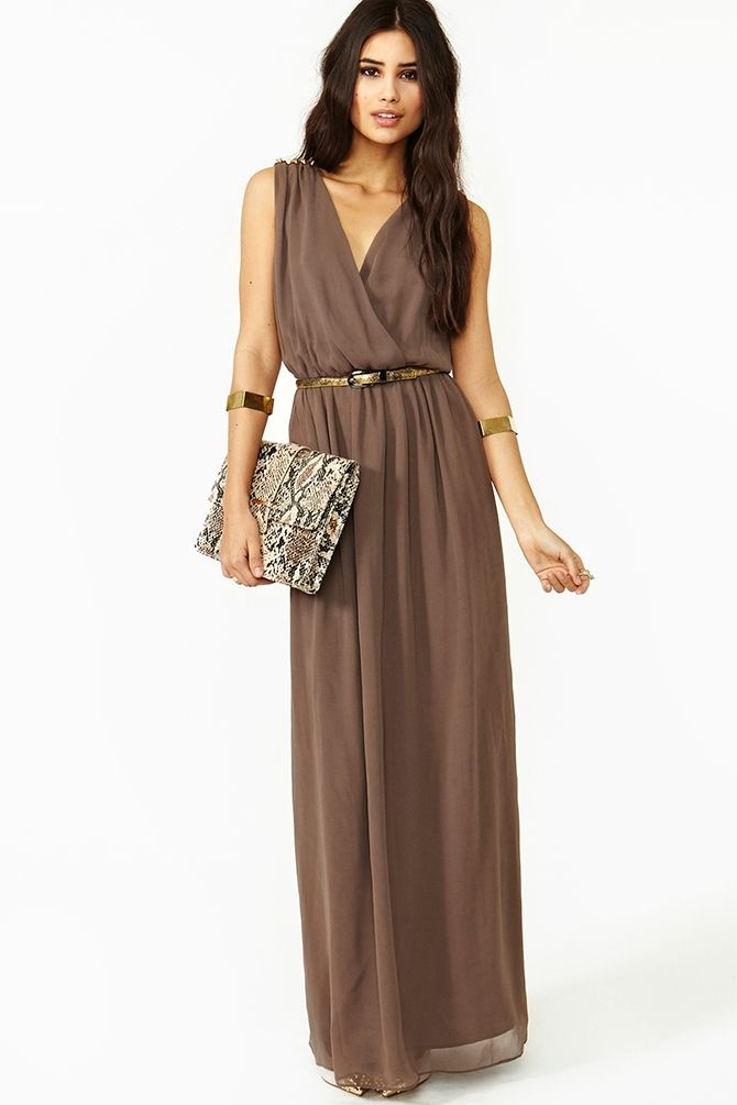 Gowns brown bronze 10 handpicked ideas to discover in for Brown dresses for wedding guest