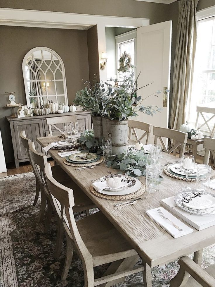 How To Set A Table For Fall Cottage Dining Rooms Beige Dining