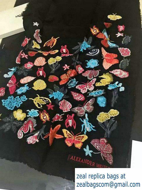 Alexander McQueen Butterfly Scarf Black 2016