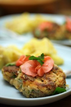 Cod Cakes with Crunchy Pickled Radishes