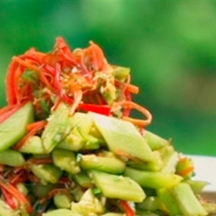 Try this Hot and Sour Cucumber Salad recipe by Chef Kylie Kwong. This recipe is from the show Kylie Kwong: My China.