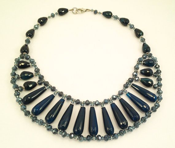 Gorgeous necklace egyptian style in blu di RoxaneItalianJewelry