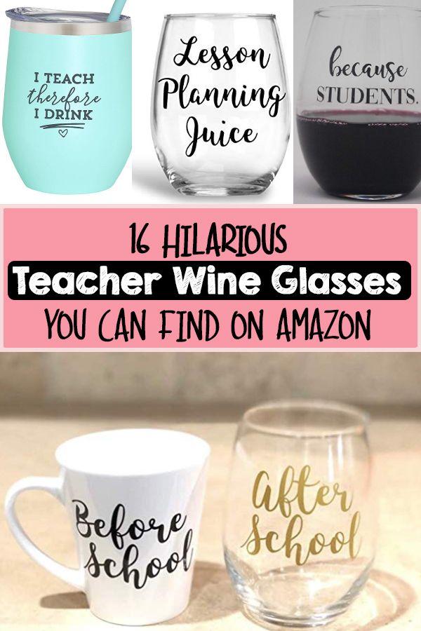 Professor Gift Funny Teacher Wine Tumbler Teacher Wine Glass Teacher Gift Because STUDENTS Funny Wine Tumbler