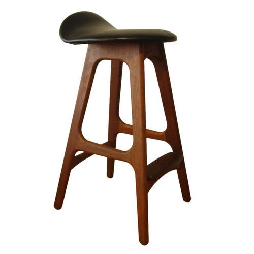 Danish Wood Frame And Leather Saddle Seat Design From The
