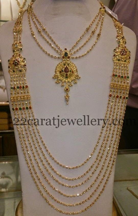 Jewellery Designs: Chandra Haram and Simple Necklace
