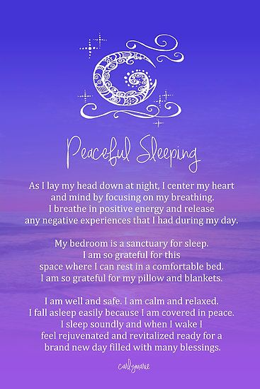 Affirmation - Peaceful Sleeping by CarlyMarie