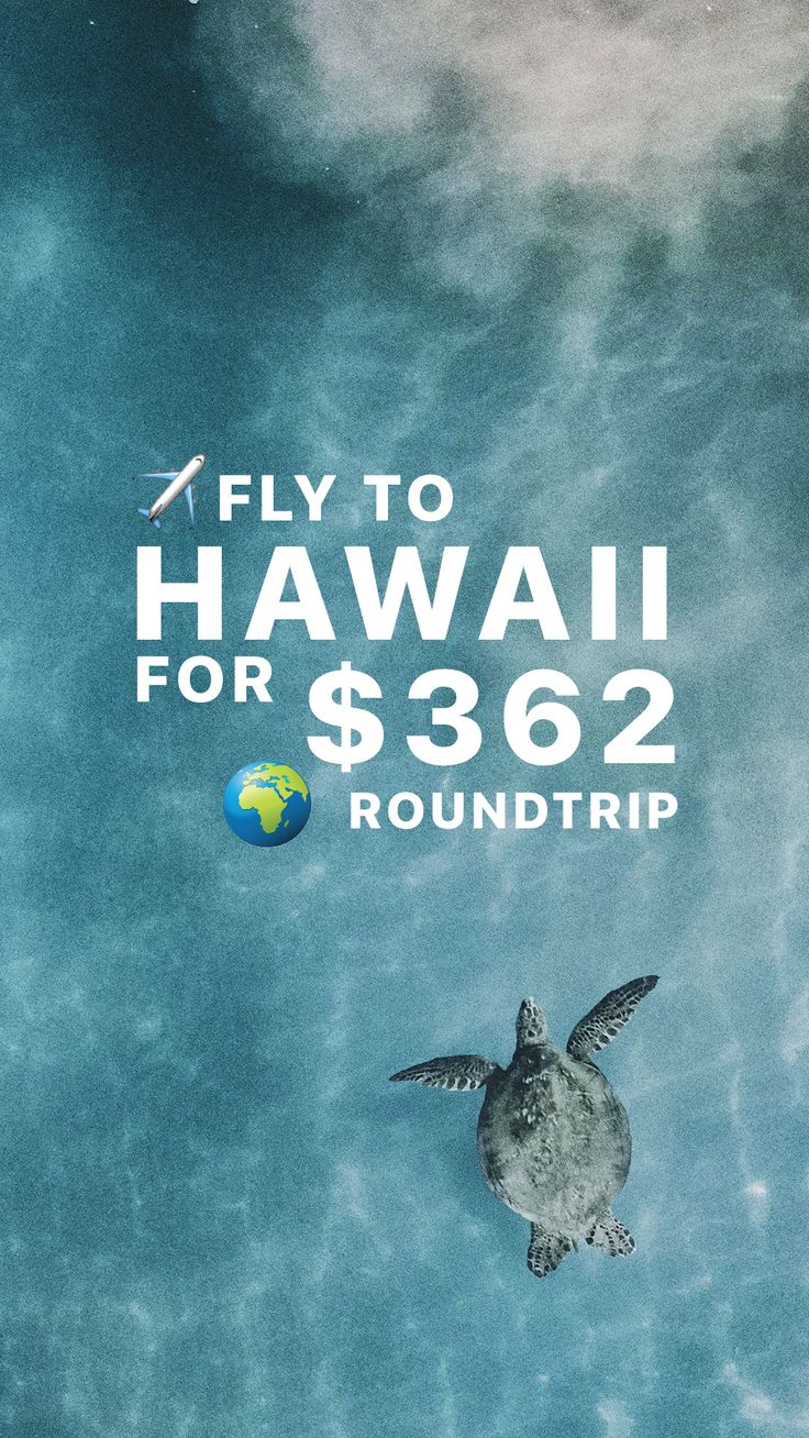 This is how you can fly to Hawaii for $362 roundtrip! ✈️ ✈️ ✈️