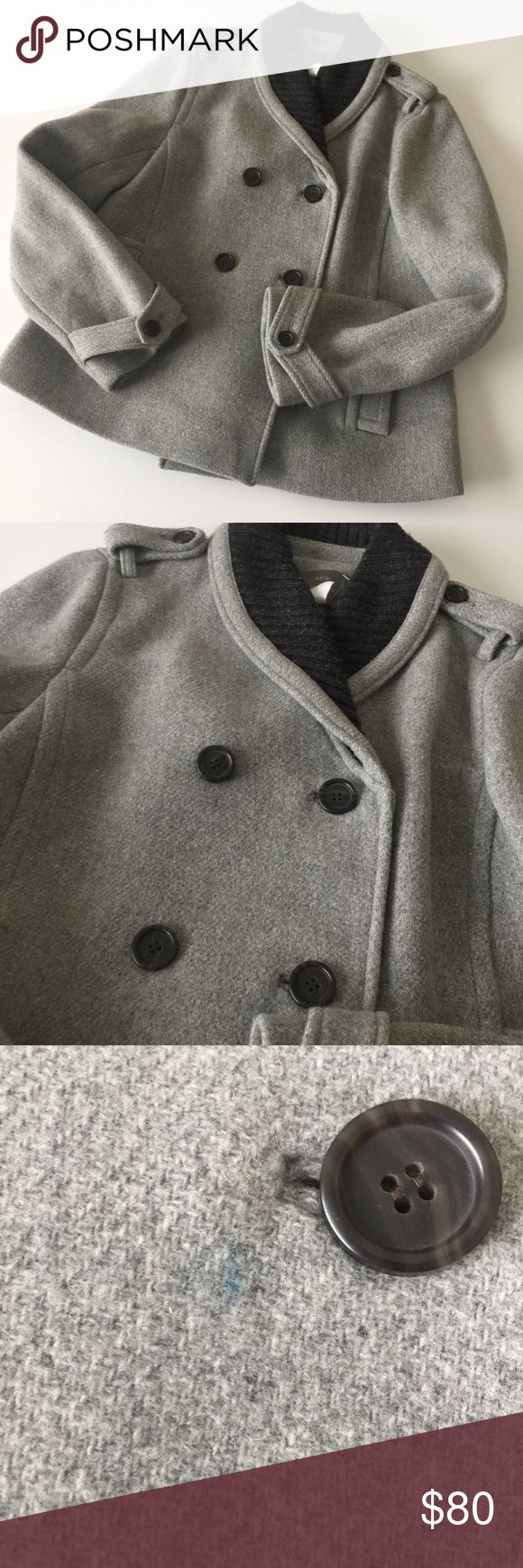J CREW Stadium cloth Nello Gori Sasha Peacoat  10 Really nice JCREW size 10. Only flaw is a small blue ink mark. Dry clean only. The stain can probably be removed at the dry cleaners J. Crew Jackets & Coats Pea Coats
