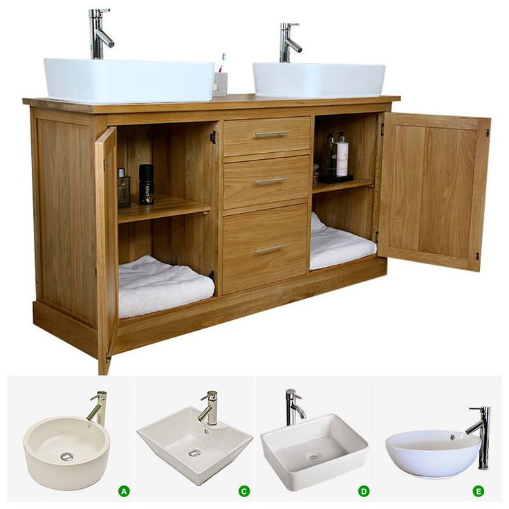 Double Vanity Unit   Solid Oak Bathroom Cabinet Twin Ceramic Basin Sink  Taps SetBest 25  Double vanity unit ideas on Pinterest   Double vanity  . Double Sink Vanity Units For Bathrooms. Home Design Ideas