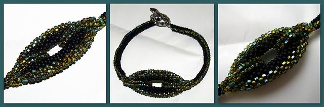 Duotone bracelet by EvaBeading, via Flickr