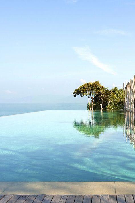 Boutique Hotel Koh Samui, Thailand, Six Senses Samui - Resort Main Pool.