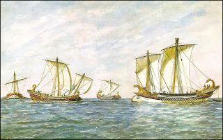 Historia de la navegación: Las guerras Púnicas y la eclosión de Roma