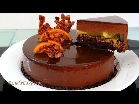 [SUB] МУССОВЫЙ торт АПЕЛЬСИН и черный ШОКОЛАД с зеркальной глазурью Bánh Kem Socola Bánh KemMousse - YouTube
