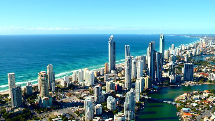 Aerial View of Surfers Paradise on the GoldCoast