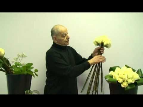 great tutorial ▶ Wedding Flowers | How To Make A Rose Wedding Bouquet - YouTube