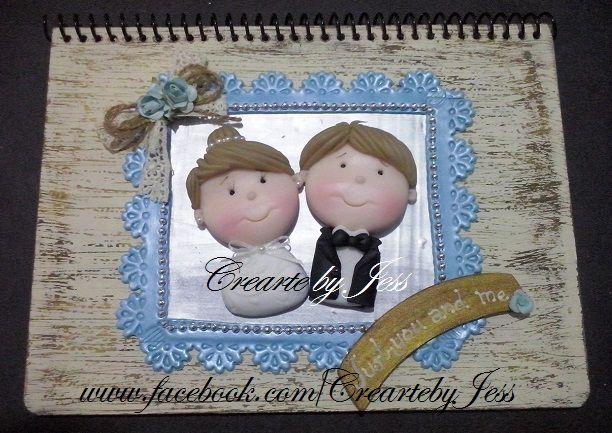 libreta profesional, para felicitaciones de boda <3 <3 #boda #novios #pastaflexible