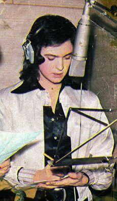 En estudio de grabación, años 70
