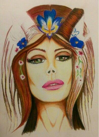 Faun in prisma colour pencil by Brandon To'omata