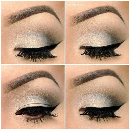 This is a really gorgeous eye.....smokey, but not too dark....very clean lines, fantastic, rich lashes and that brow, with it's immaculately shaped high arch, nary a stray hair in sight-is the stuff beauty dreams are made from.