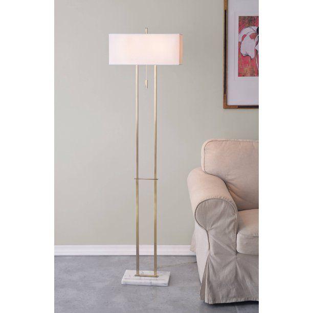 Emilio Antique Brass With Marble Floor Lamp Walmart Com Floor Lamp Brass Floor Lamp Floor Lamp Base Living room floor lamps walmart