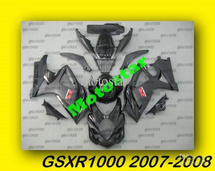 Матовый Черный ABS Обтекатели GSXR1000 2007 2008 07 08 Borywork Высокого Качества Бесплатно Лобовое Стекло