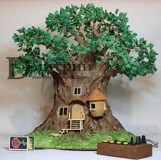 Бисерный Друид Дмитрий: Ночной светильник: Волшебное дерево