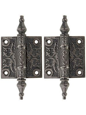"""Pair of Decorative Cast Iron Cabinet Hinges - 2"""" x 2"""" - heavy cast iron, $11.99 