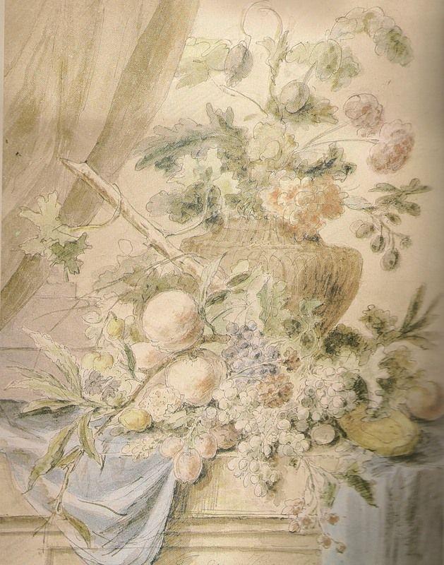 Ян ван Хейсум   Ян ван Хейсум образец прекраснейшей акварельной живописи на бумаге