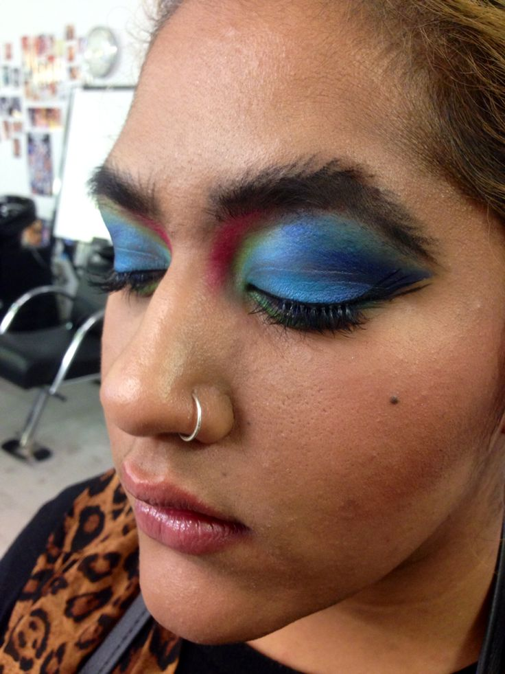 Birds of paradise inspired makeup by Kevin Tran
