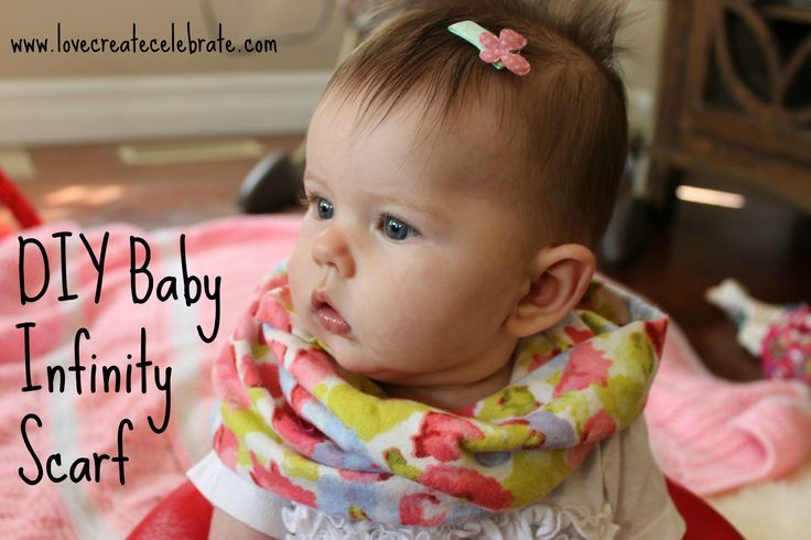 DIY Baby Infinity Scarf - Easy tutorial to sew an adorable infinity scarf for your little girl!