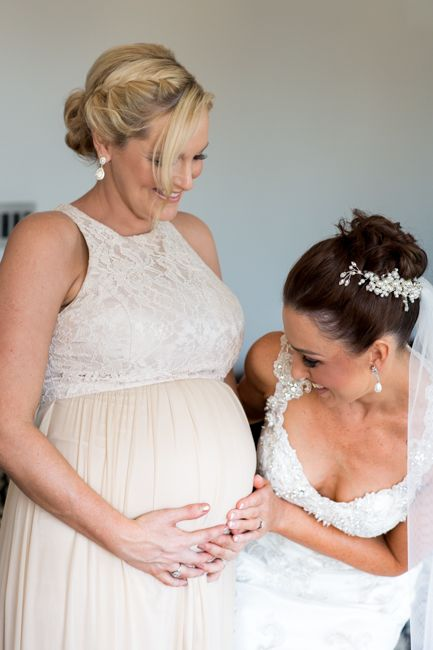 Our gorgeous bride Danika chose the Aneeta Lace Dress in Champagne for her bridesmaids. This style suited her 7-month pregnant bridesmaid beautifully!