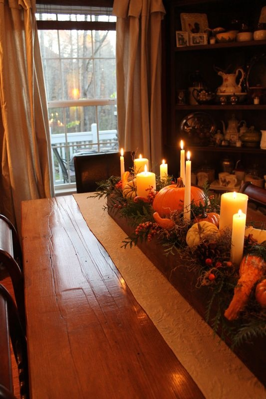 Thanksgiving Table @Melanie Bauer Hooks what about something like this with a diy trowel box?
